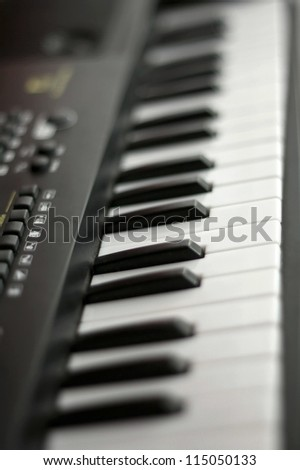 Electric piano - stock photo