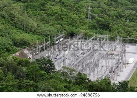 Electric Plant In The Forest, Thailand - stock photo
