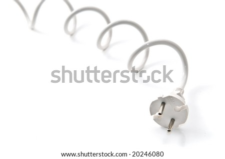 Electric plug isolated on white background - stock photo