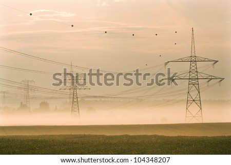 electric power line - stock photo