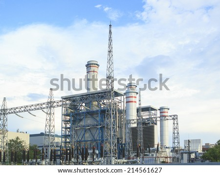 electric power plant in zhuhai china - stock photo