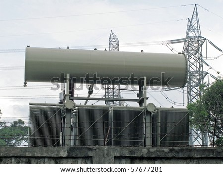 Electric power structure - stock photo