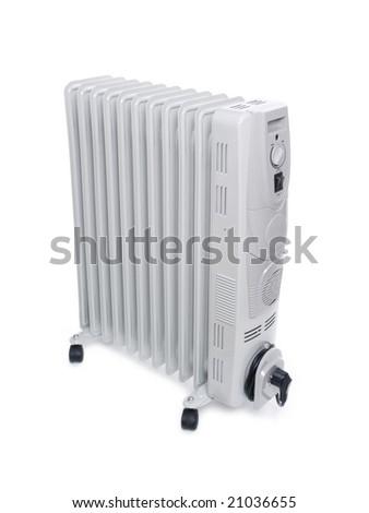 Electric radiator - stock photo
