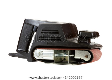 Electric sander isolated on a white background. - stock photo