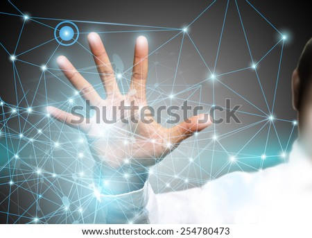 Electric scheme for design use.  - stock photo