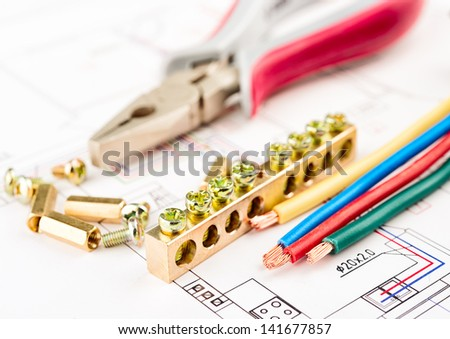 electric tools on a white background . - stock photo