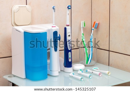 Electric toothbrush - stock photo
