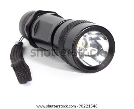 Electric torch (flashlight) LED - stock photo