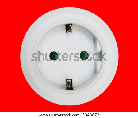 Electric wall plug. Electricity concept. Wall outlets - stock photo