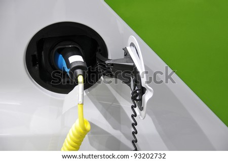 Electrical Car - charging cycle - stock photo
