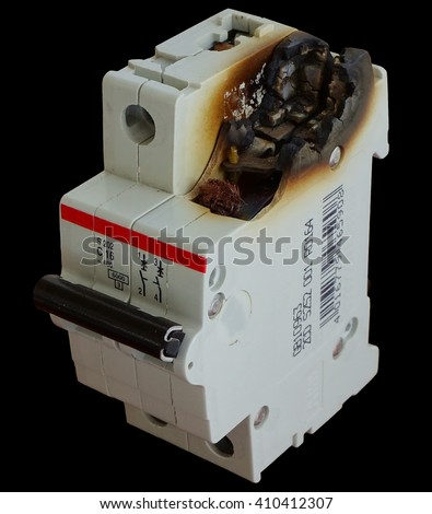 electrical, circuit, broken, power, fire, short, plug, electricity, outlet, electric, overload, safety, failure, wire, protection, fuse, energy, damaged, overloaded, danger, voltage, dangerous        - stock photo
