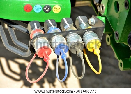 Electrical Colored Plugs - stock photo