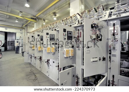 electrical equipment - stock photo