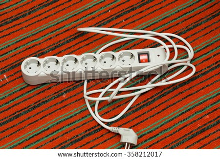 electrical extension cord - stock photo