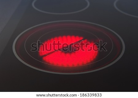 Electrical hob - stock photo