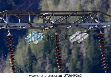Electrical insulators - stock photo