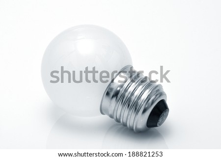 Electrical light bulb Isolated on white background. Monochrome - stock photo