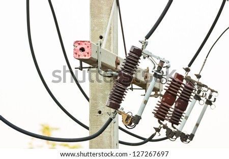electrical power equipment, High voltage fuse - stock photo