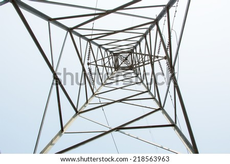 Electrical power tower - stock photo