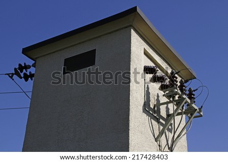electrical substation - stock photo