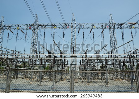 Electrical substation, Power Station in Thailand. - stock photo