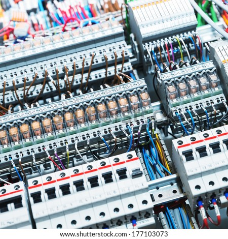 Electrical supplies shot - stock photo