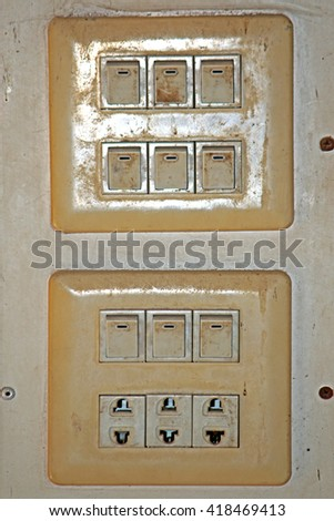 Electrical Switch & outlet - stock photo