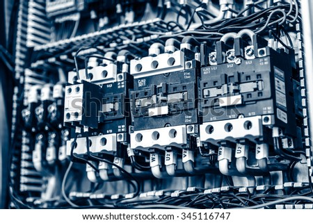 Electrical switches - stock photo