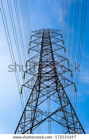 Electrical Transmission Line Tower  - stock photo