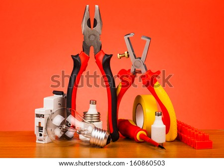 Electrician's tools  - stock photo