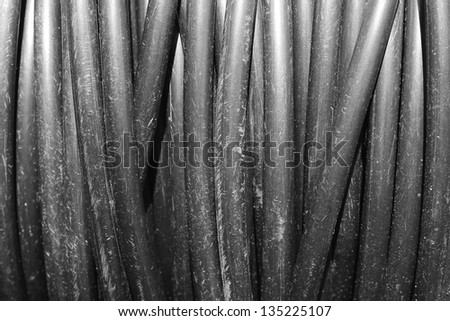 electricity cable - stock photo