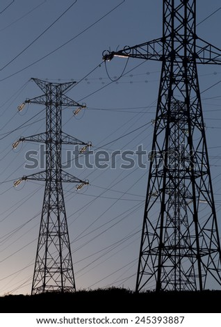 Electricity Tower  - stock photo