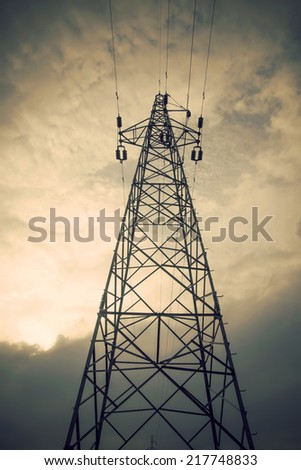 Electricity tower look - stock photo