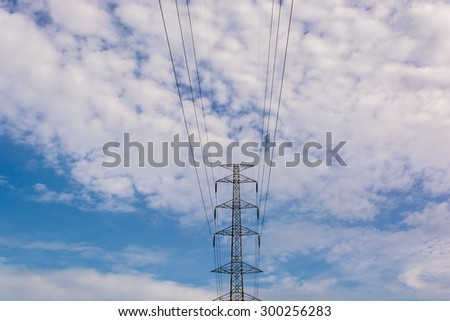 electricity transmission pylon - stock photo