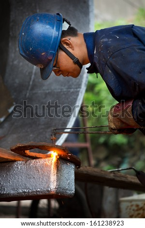 Electro welding - stock photo