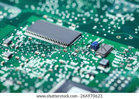 Electronic Board - close up - stock photo