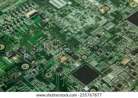 electronic board system - stock photo