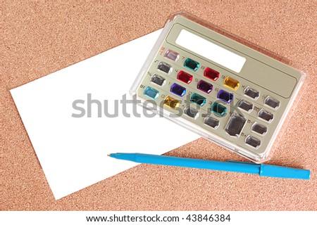 Electronic Calculator - stock photo