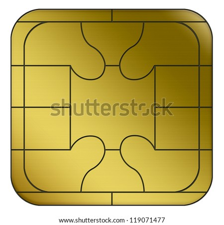 electronic chip - stock photo