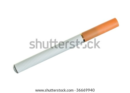 Electronic cigarette over white background - stock photo