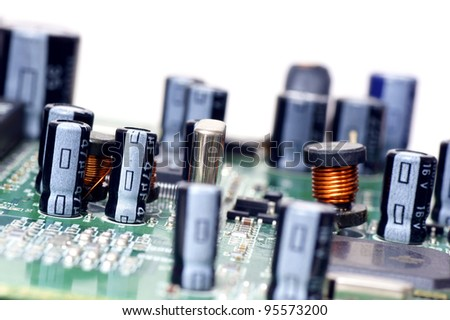 Electronic components, - stock photo