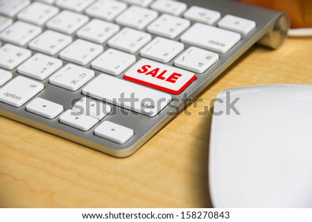 Electronic devices on the desk close up view - stock photo