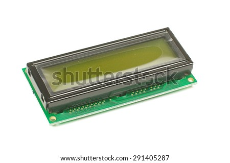 Electronic embedded system component liquid crystal display LCD isolated on the white background - stock photo