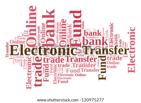 Electronic Fund Transfer concept in word cloud - stock photo