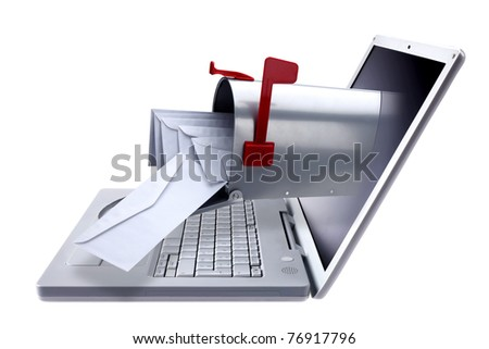 electronic mail - stock photo