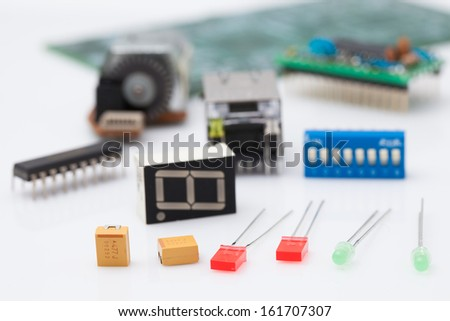 electronic part - stock photo