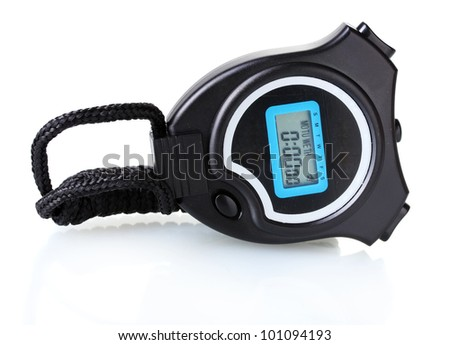 electronic sport timer isolated on white - stock photo