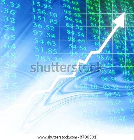 Electronic stock numbers - stock photo