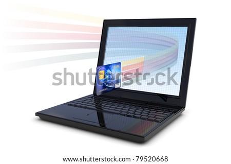 Electronic transaction - stock photo