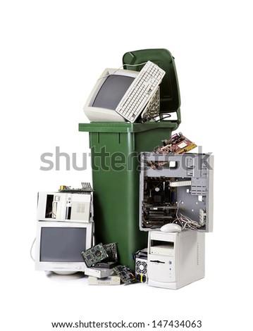 electronic waste - stock photo
